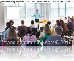 jadwal training analisis permasalahan perbankan